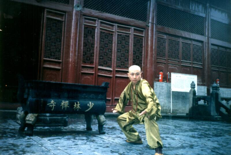 Grandmaster Li Tai Liang showing stance training at Shaolin Temple when he was the coach of the Shaolin Monks