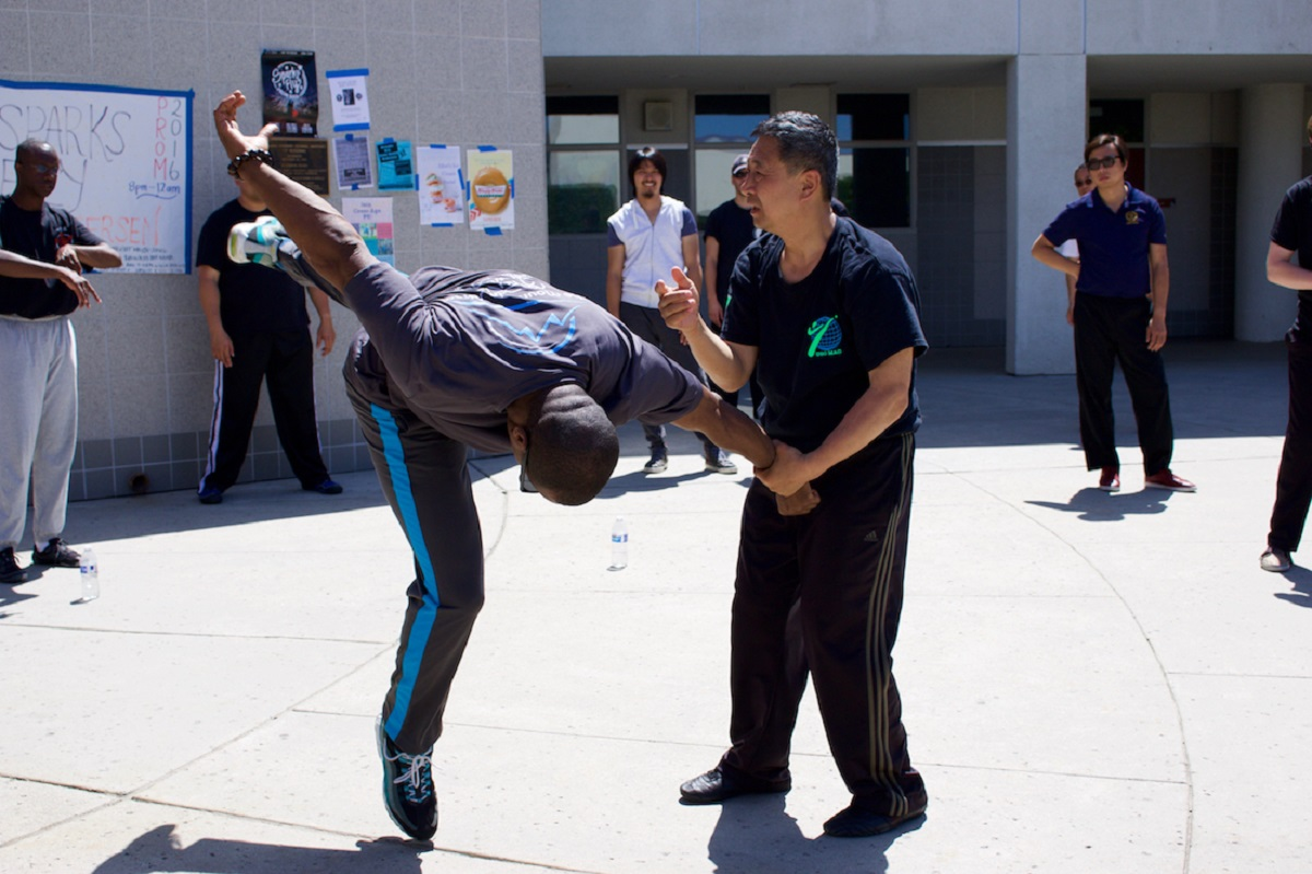 Grandmaster Li Tai Liang demonstrating Xinyi-Dao Kung Fu Baguazhang power generation technique