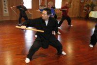 Grandmaster Li Tai Liang teaching Xinyi-Dao Kung Fu short stick form