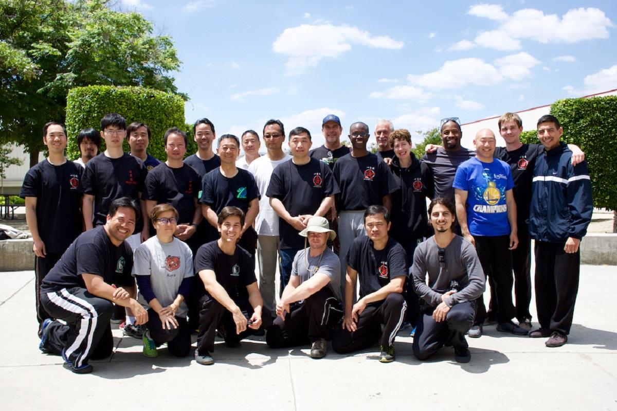 Students of Xinyi-Dao Kung Fu branches gathered here for Grandmaster Li Tai Liang's seminar