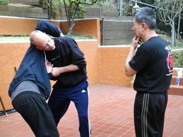 Grandmaster Li Tai Liang teaching Xinyi-Dao Kung Fu seminar in the West Coast