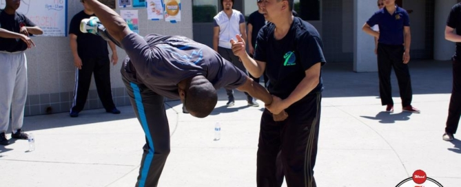 Grandmaster Li Tai Liang teaching Xinyi-Dao Kung Fu seminar in the West Coast