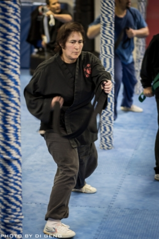 Form practice with a belt at Xinyi-Dao Kung Fu Academy on Long Island