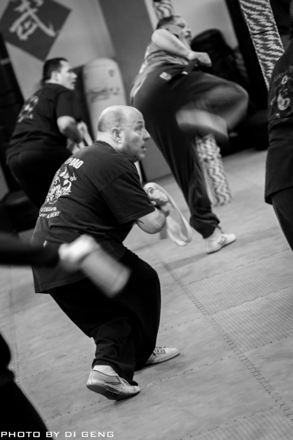 Kung Fu form practice at Xinyi-Dao Kung Fu Academy on Long Island