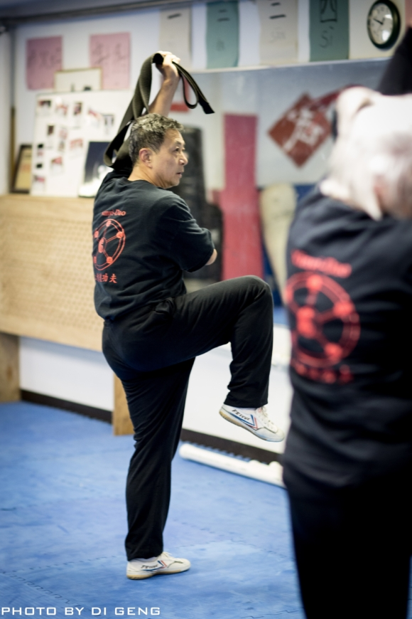 Kung Fu stance training at Xinyi-Dao Kung Fu Academy on Long Island