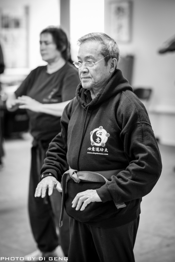 Qigong exercise at Xinyi-Dao Kung Fu Academy on Long Island