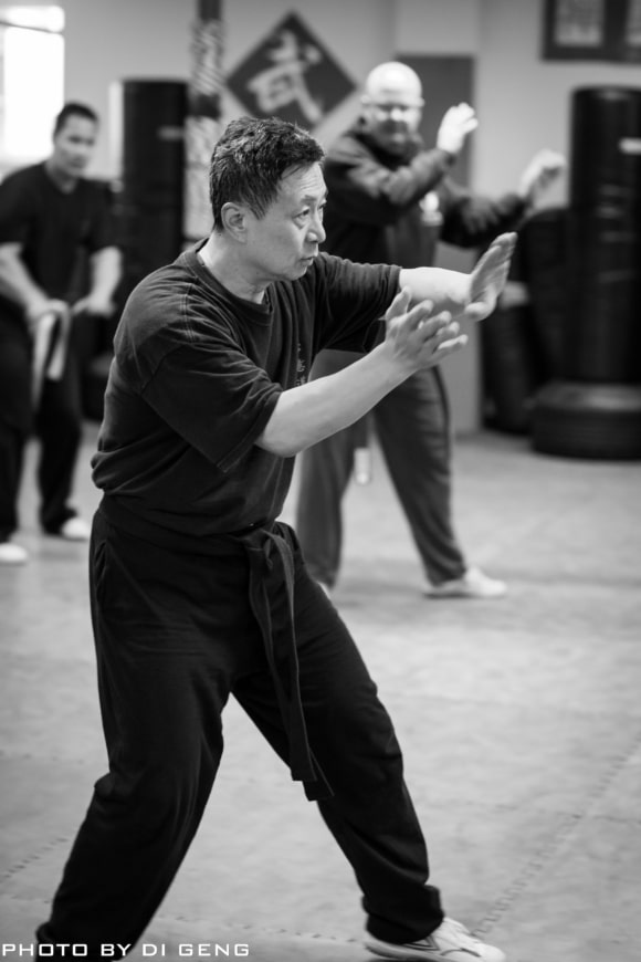 Tai Chi turning the body exercise at Xinyi-Dao Kung Fu Academy on Long Island