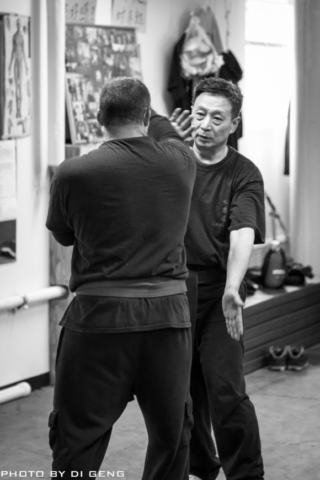 Hitting the arm practice at Xinyi-Dao Kung Fu Academy on Long Island