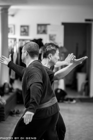 Body conditioning exercise at Xinyi-Dao Kung Fu Academy on Long Island