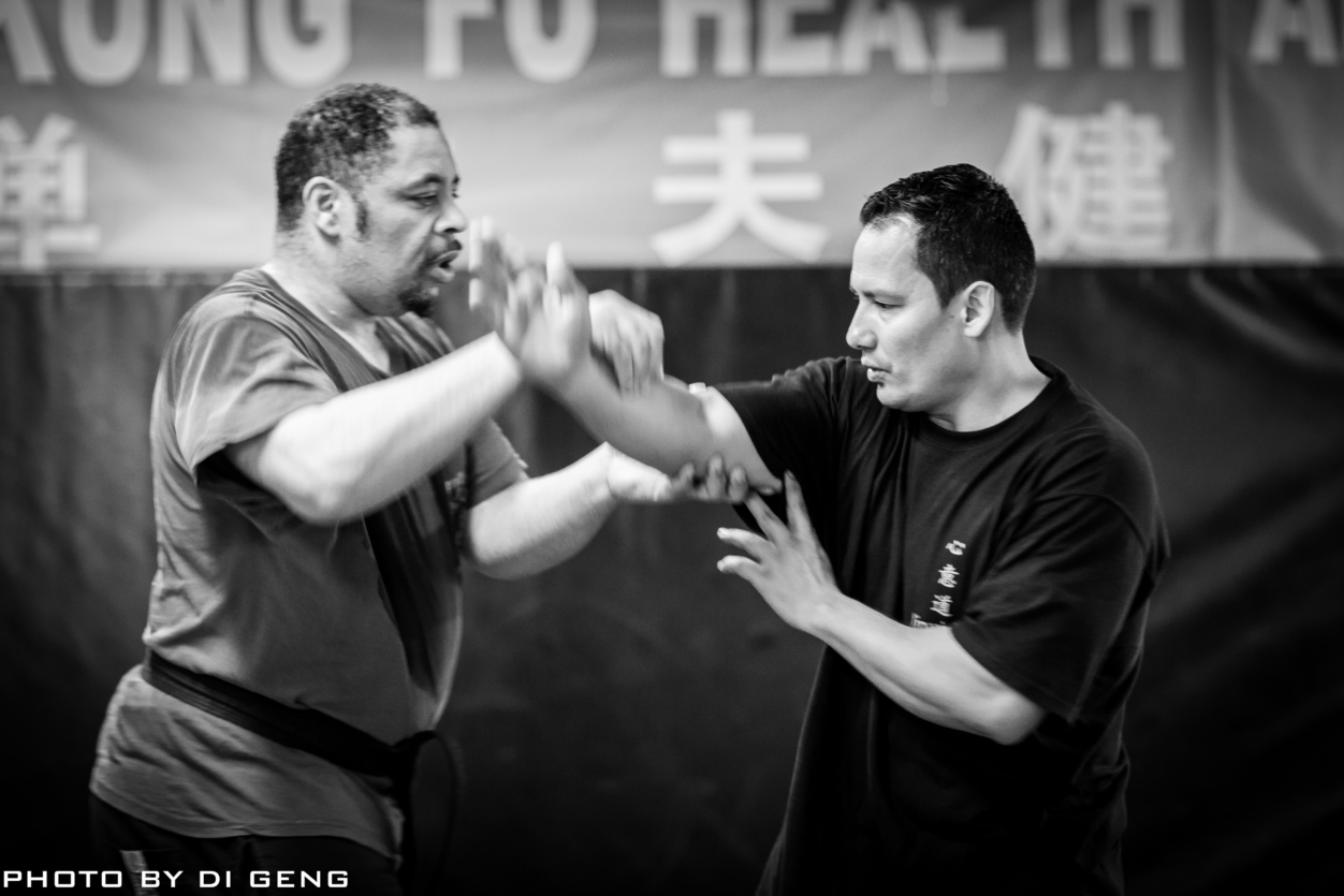 Arm pulling technique exercise at Xinyi-Dao Kung Fu Academy on Long Island