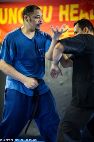 Arm hitting exercise at Xinyi-Dao Kung Fu Academy on Long Island