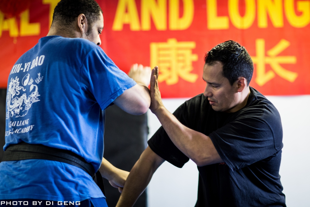 Blocking and striking exercise at Xinyi-Dao Kung Fu Academy on Long Island