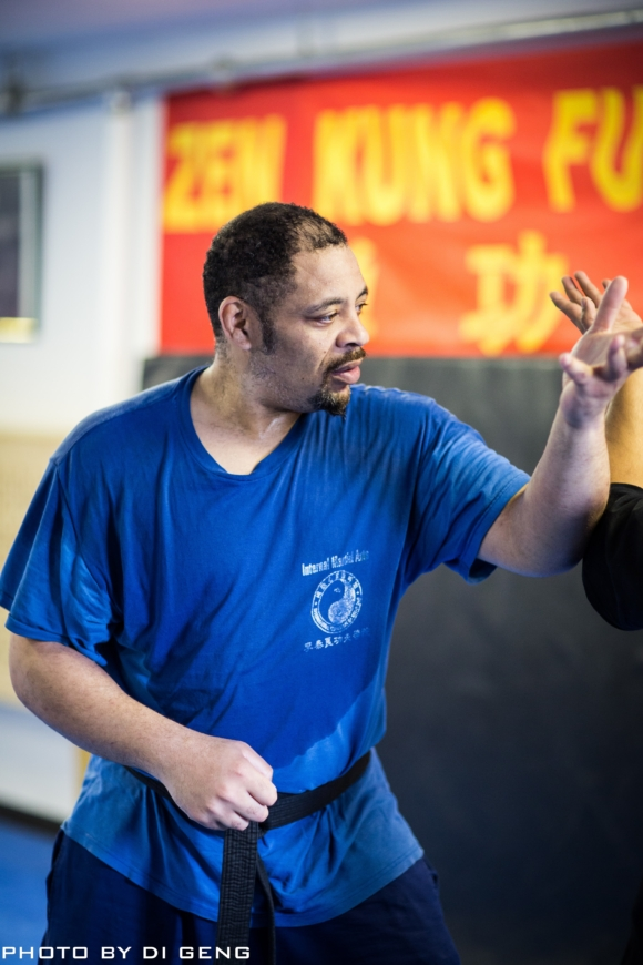 Arm conditioning exercise at Xinyi-Dao Kung Fu Academy on Long Island