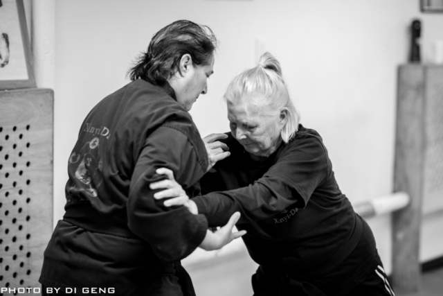 Push hands training at Xinyi-Dao Kung Fu Academy on Long Island