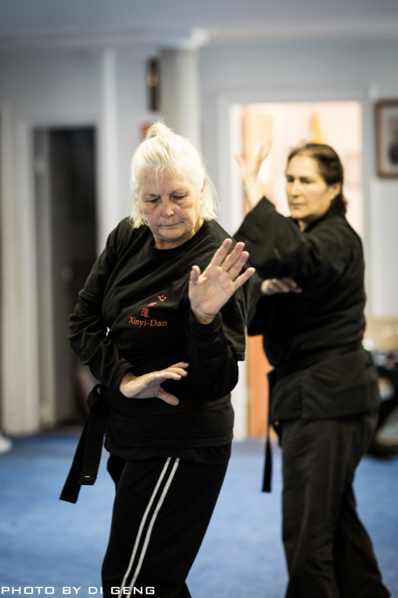 Baguazhang palm exercise at Xinyi-Dao Kung Fu Academy on Long Island