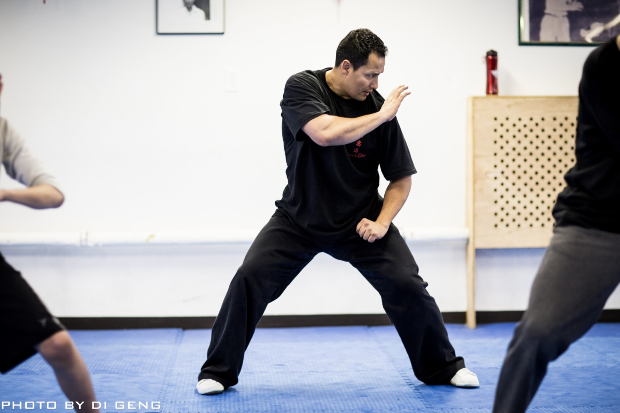 Form training at Xinyi-Dao Kung Fu Academy on Long Island