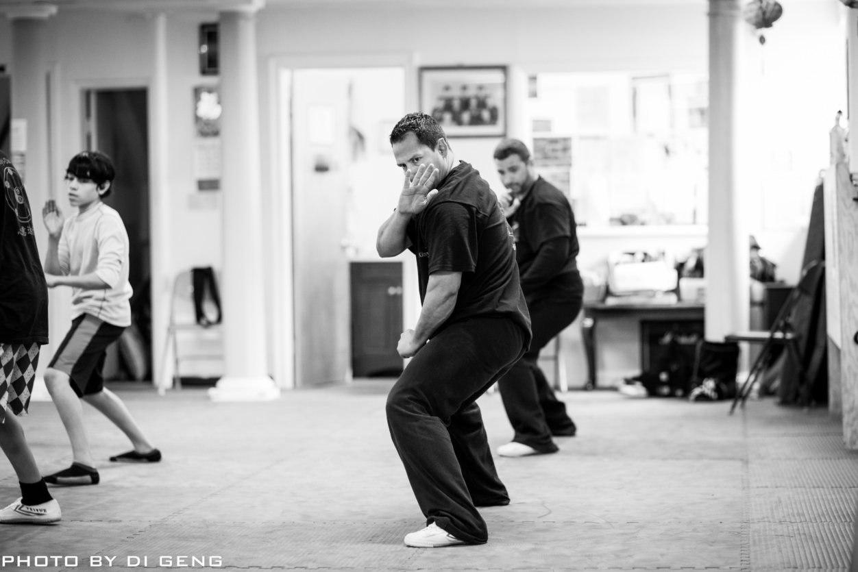 Opening stance training at Xinyi-Dao Kung Fu Academy on Long Island