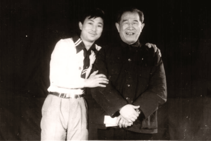 Grandmaster Li Tai Liang with His Teacher Professor Zhang Wenguang of Beijing Sport University